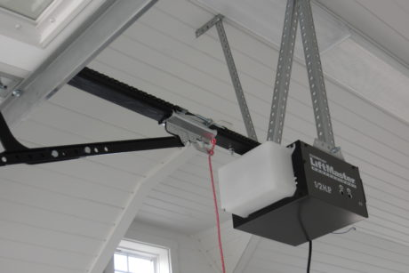 vehicle garage with electric opener