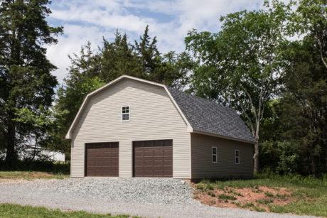 barn garage with attic