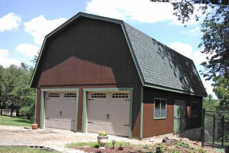 buy a two car garage barn
