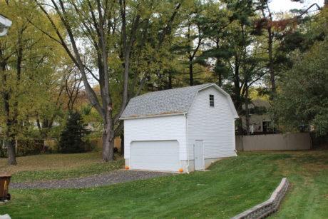 two story attic garage