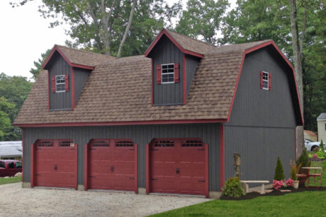 buy a detached 4 car garage attic
