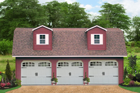four car garages with attic space