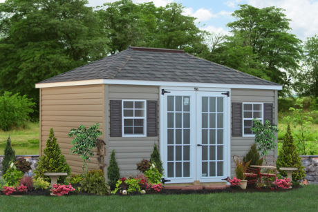 economical hipped roof shed va