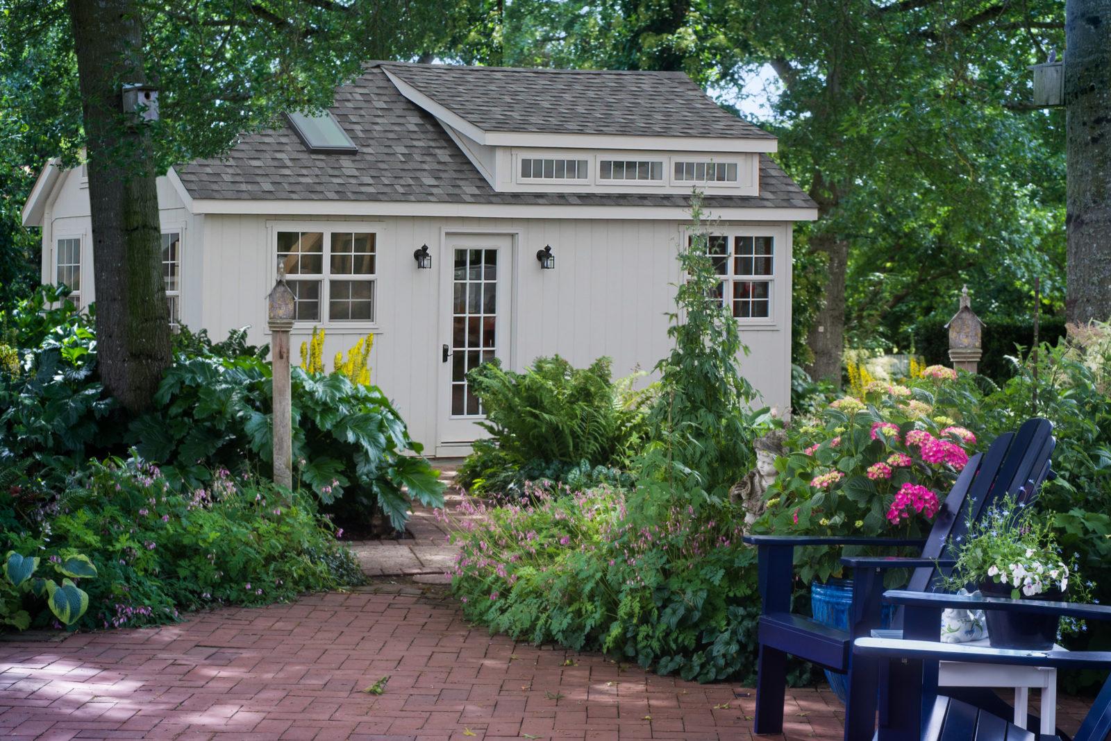 patio and playhouse
