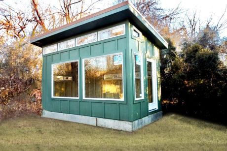 modern shed green 0