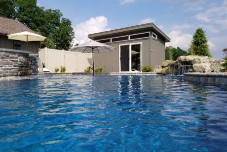 modern portable poolhouse
