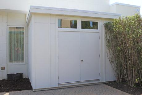 modern shed for bike storage