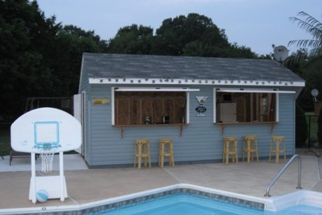 concession stand for swimming pool area