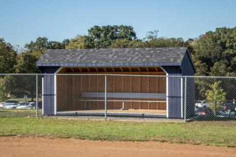 8x12 standard saltbox run in shed