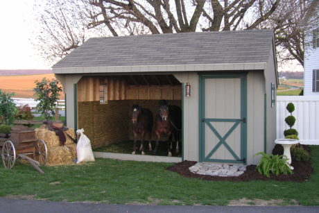 run in horse barn shed pa