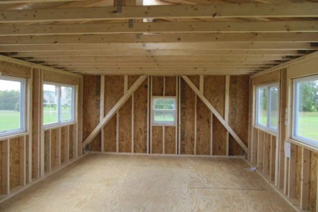 foot ball two story announcers booth sports shed