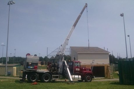 modular two story shed for junior sports field