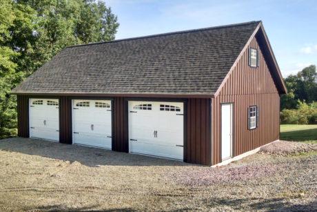 three car attic garage 24x40 0