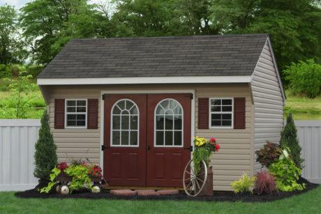 amish vinyl sided storage shed
