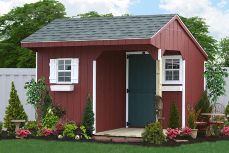 storage shed with porch
