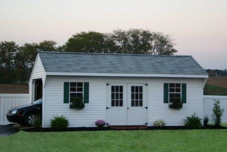 vinyl prefabricated garage on sale