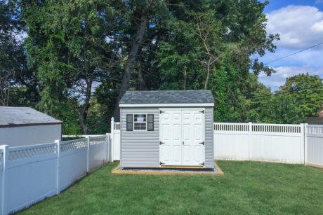 8x10 standard workshop shed with vinyl siding