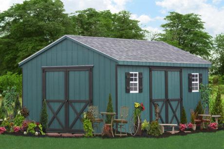 amish back yard wooden sheds