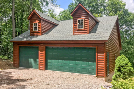 35x35 multiple car garage with attic for sale
