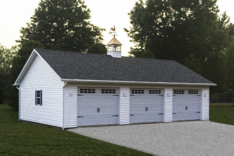 single story detached garage