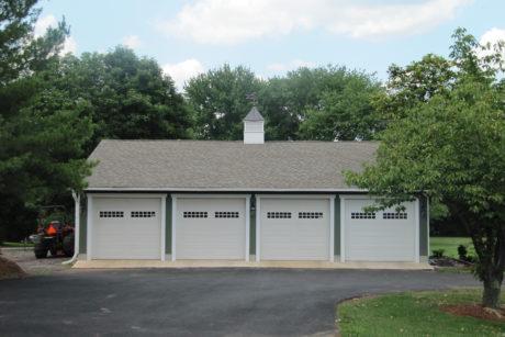 four car detached garage