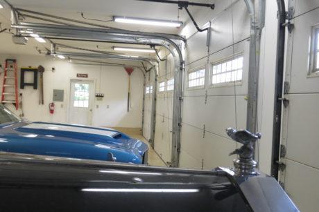 inside a four car garage prefab