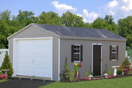 amish built portable garage