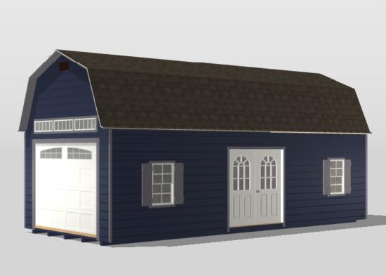 12x28 premier dutch barn single car garage