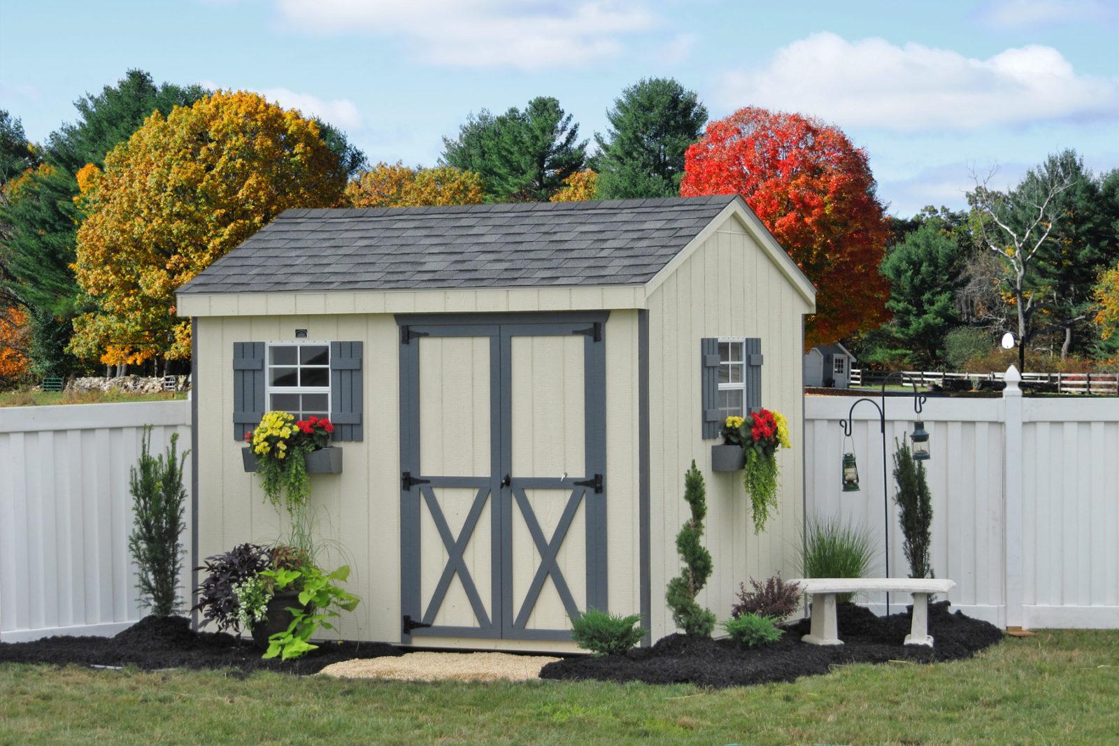 8x10 backyard wooden shed 0