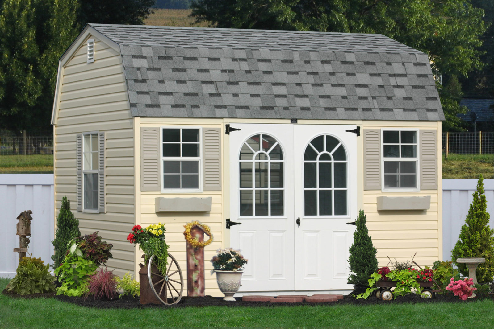 portable vinyl sided shed