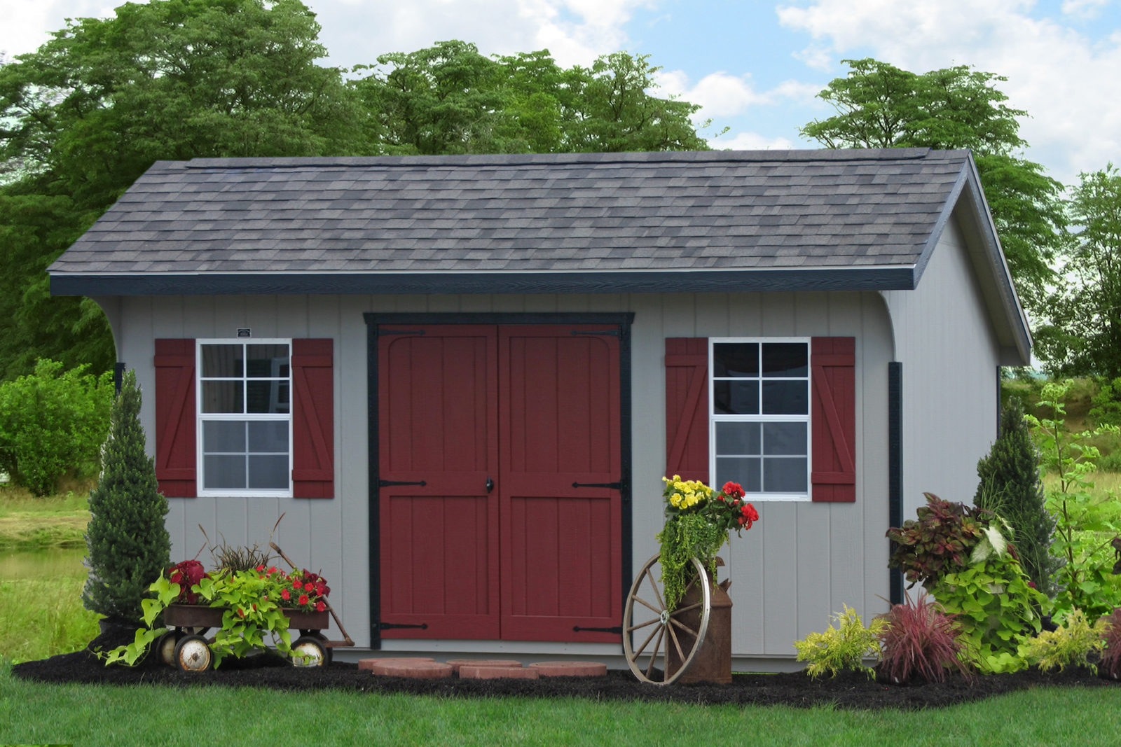 buy a custom painted shed in newark