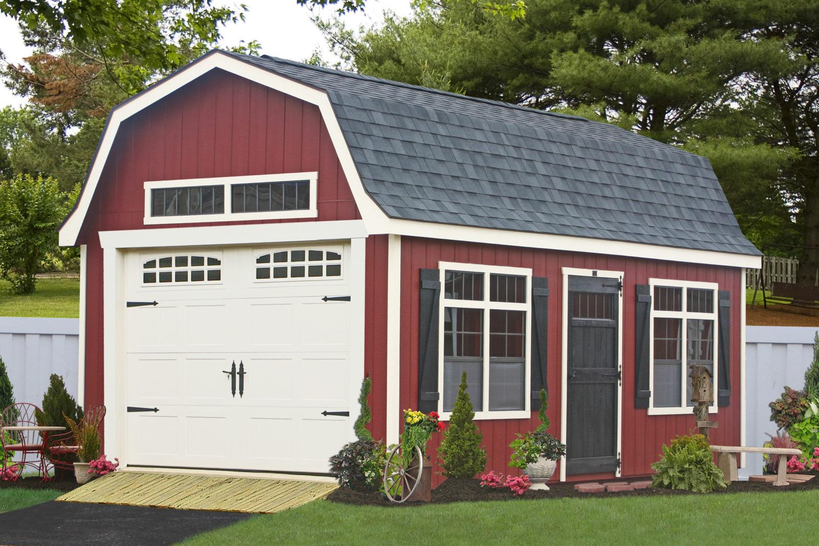 premade garage with loft space de md