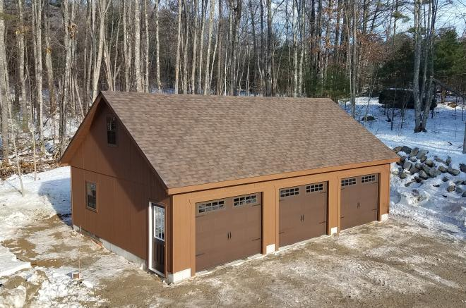 garage with attic in maine
