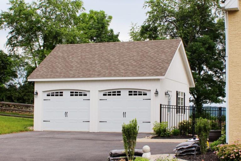 affodable 2 car prefab garage