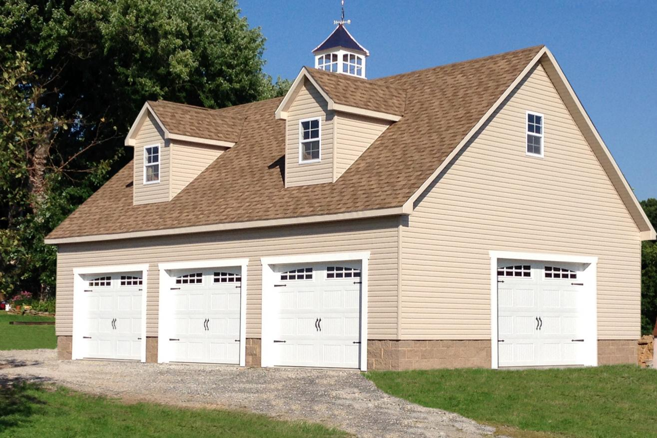 amish garages for 4 cars