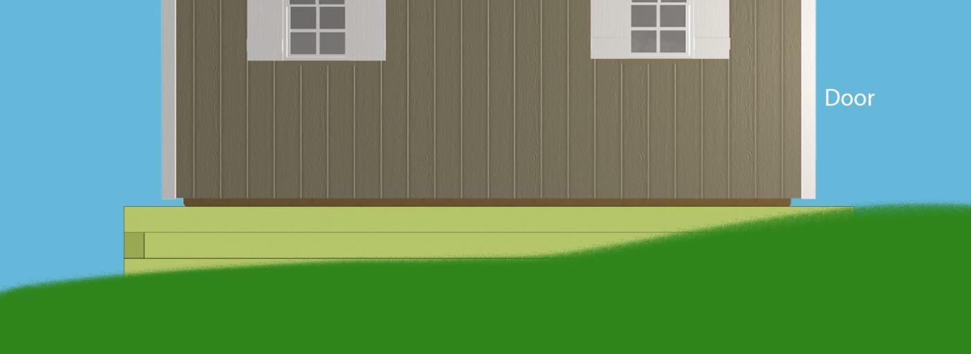 backyard storage sheds foundation excavation