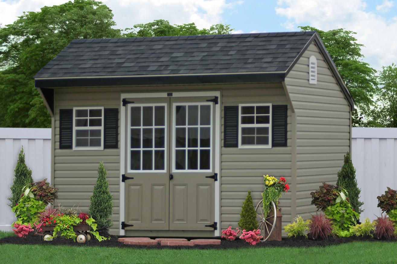 saltbox backyard storage sheds
