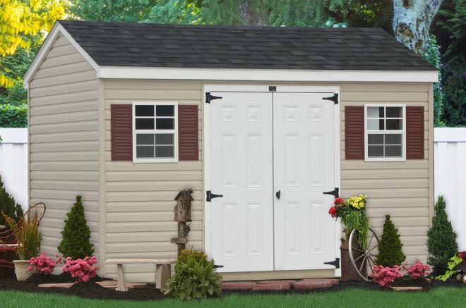 vinyl backyard storage sheds