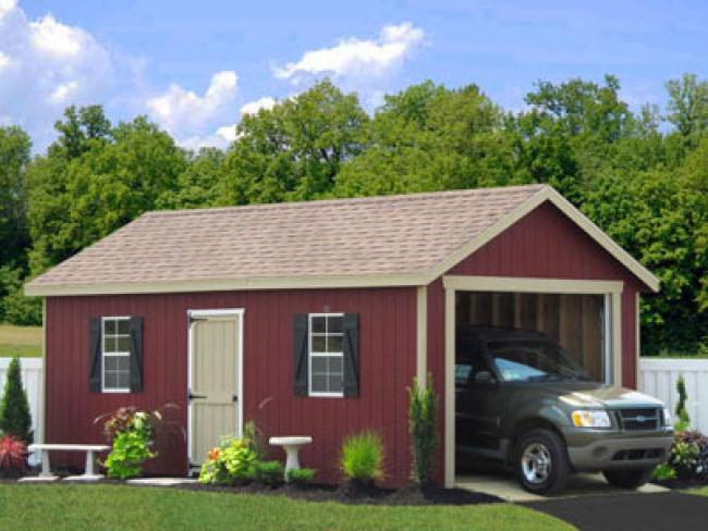 one car garage wood pa 650x488