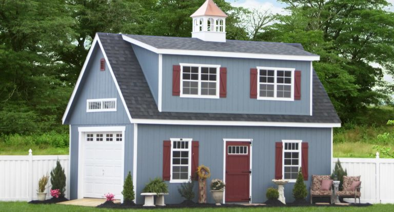 two-story one-car garage with free plans