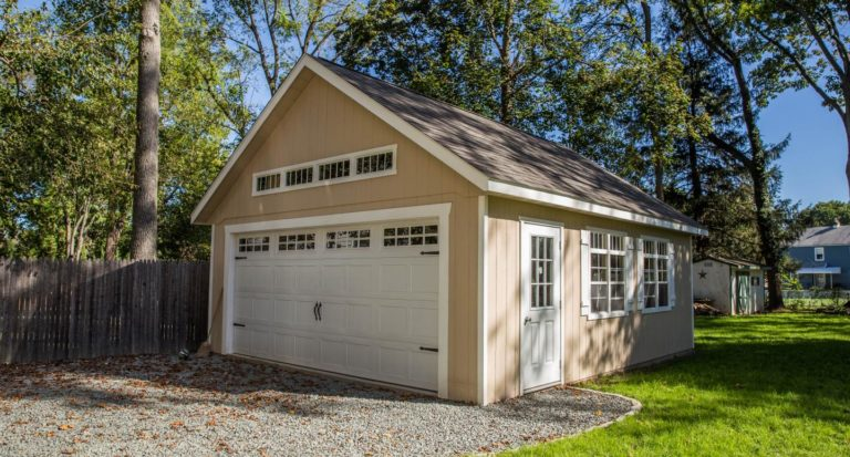 two-car garage with free plans