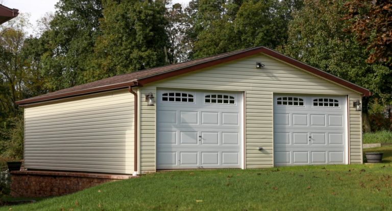 two-car double wide garage with free plans