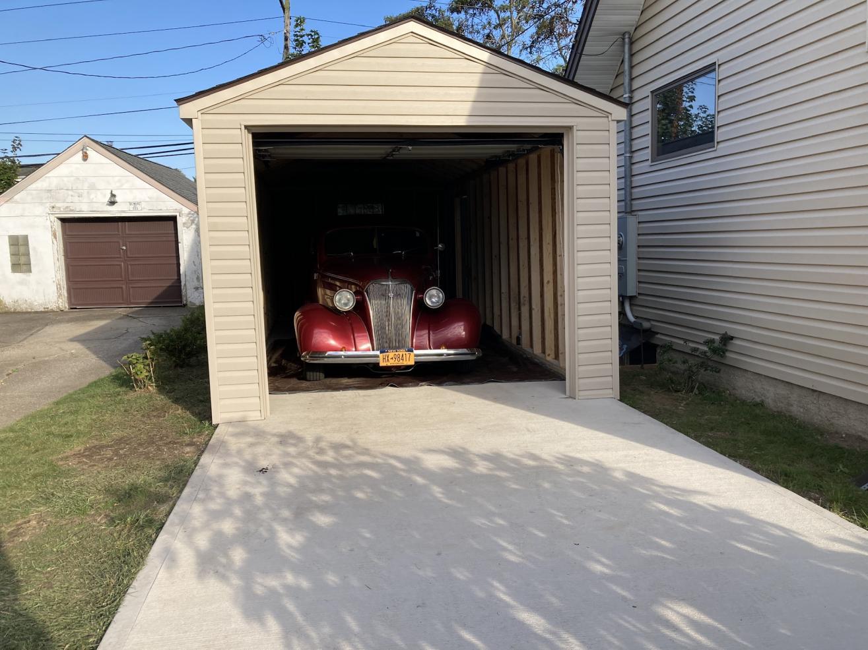 small one car garage shed near buffalo ny