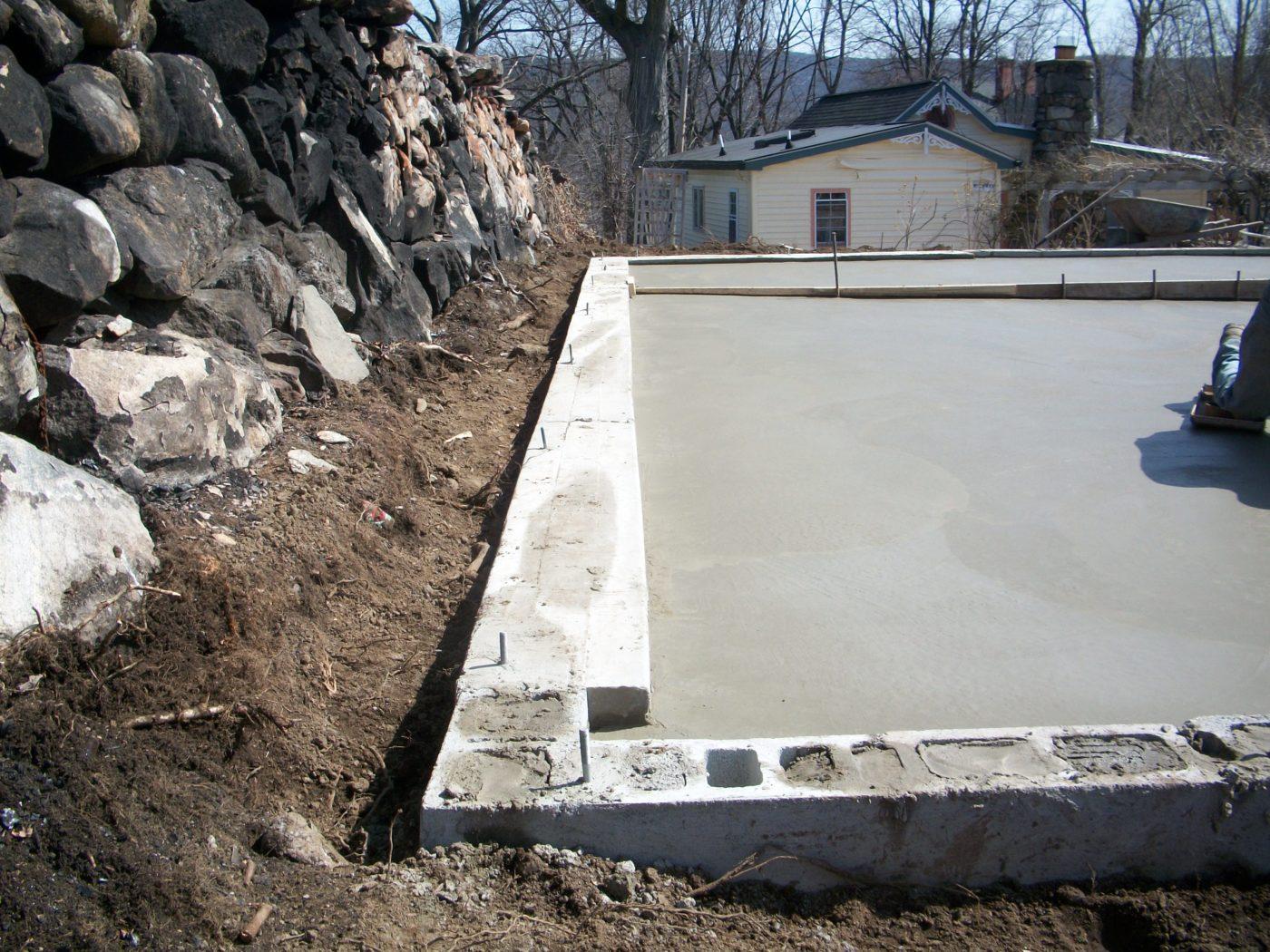concrete pad preparation for deatched garages 1