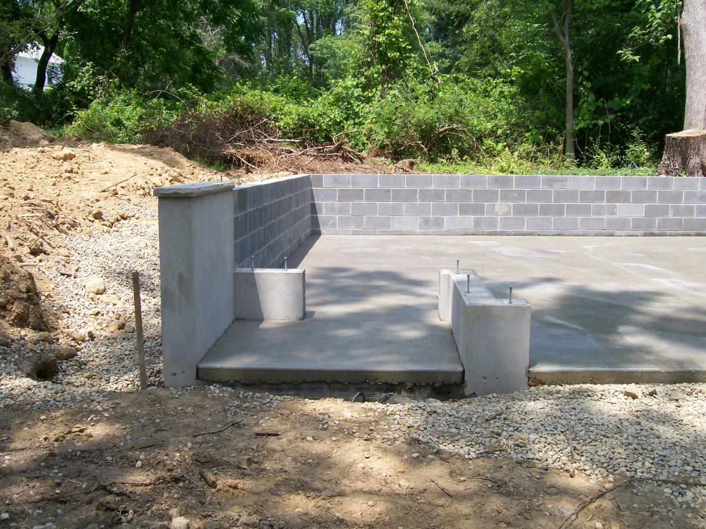 concrete pad preparation for deatched garages 6