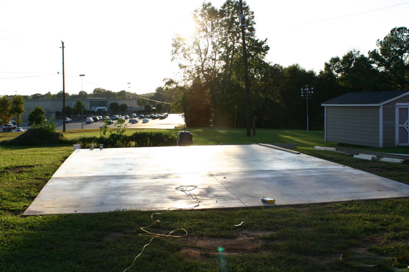 concrete pad preparation for deatched garages 9