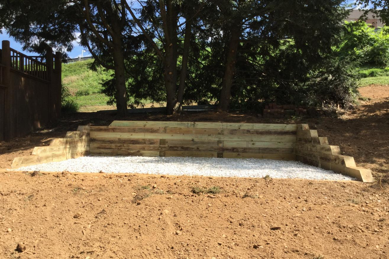 building a gravel shed pad