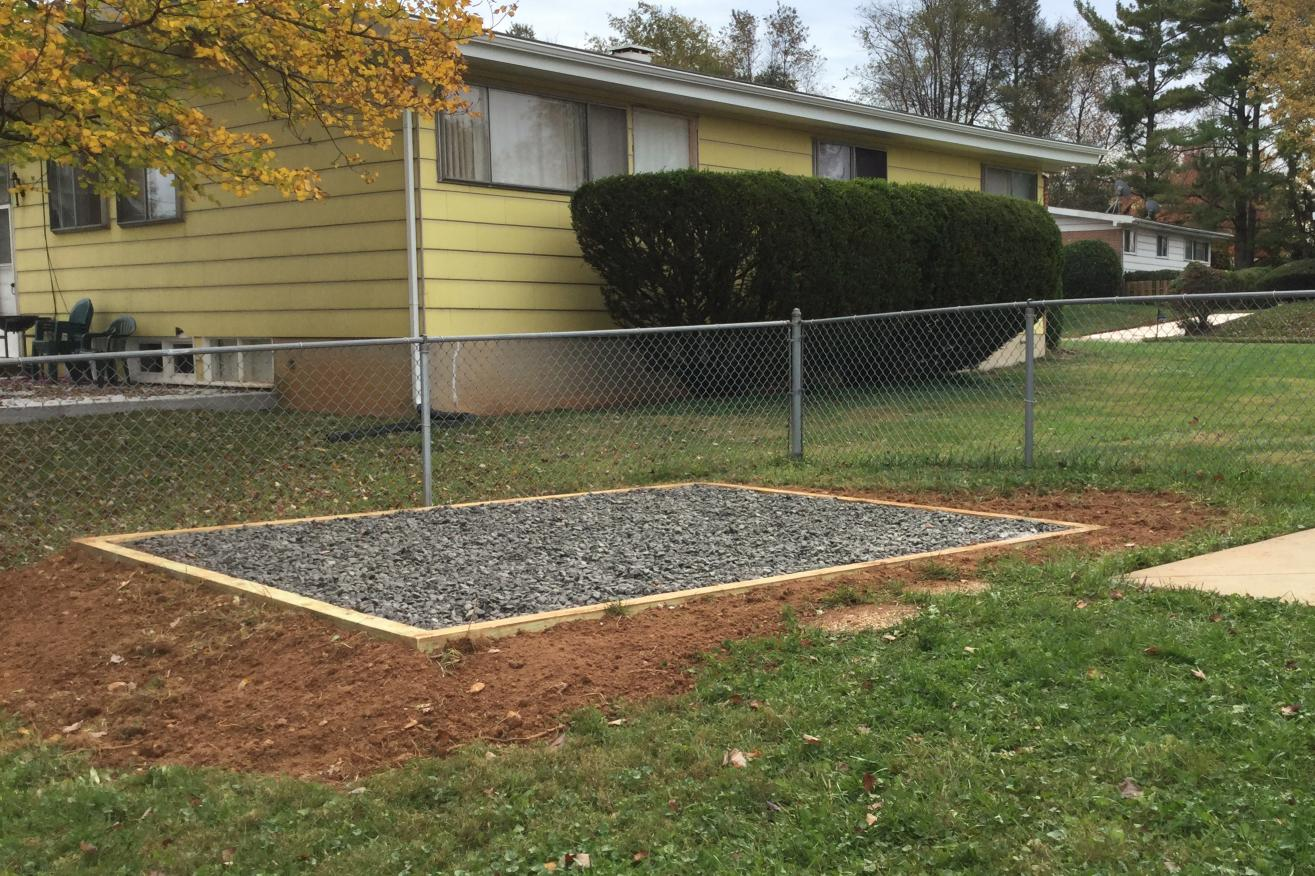 how to build a gravel pad