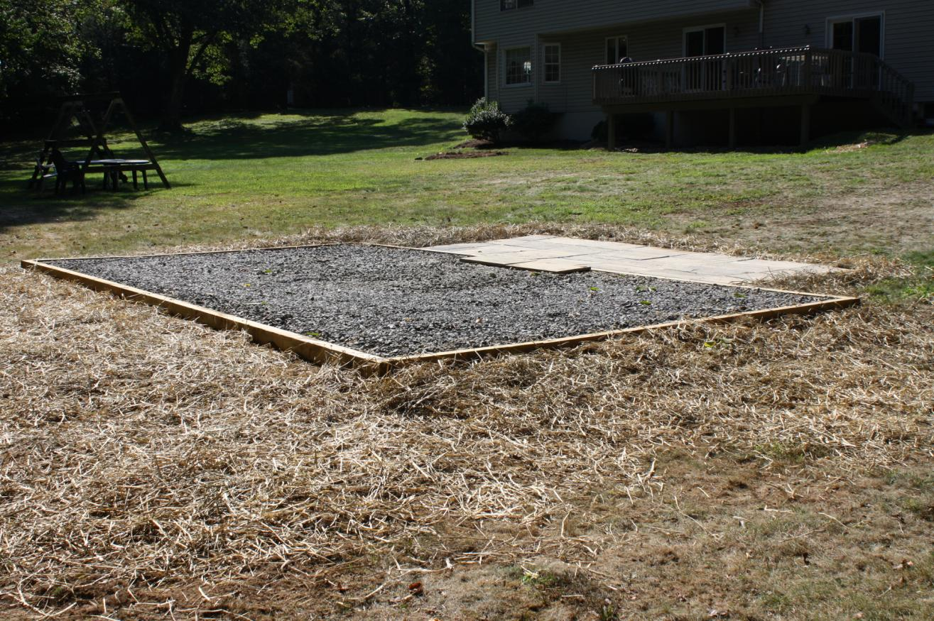 how to build a shed pad