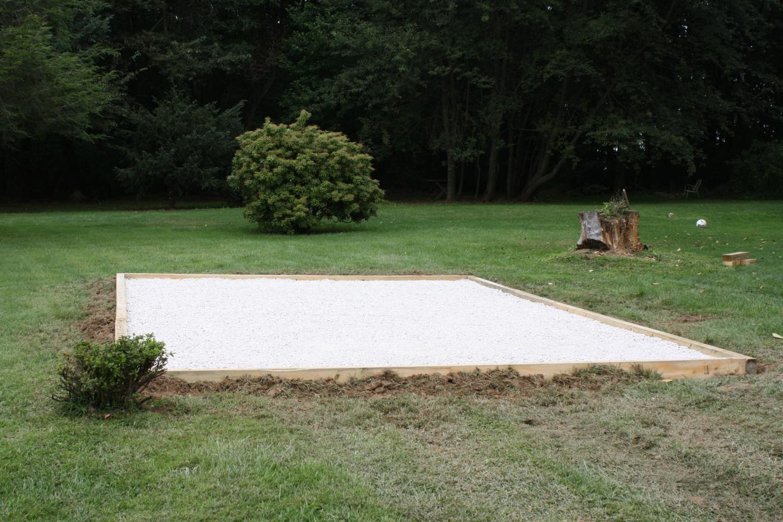 shed pad preparation 2